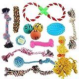 Pet Mania - 15 Mixed Small/Medium Dog <span class='highlight'>Toy</span> Set of Ropes, Balls & Chew <span class='highlight'>Toy</span>s