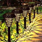 Lampada Solare Giardino GolWof 6 Pezzi LED Luci Solari da Esterno Senza Fili Impermeabile Lampade da Esterno Luci per Passaggio Pedonale Patio Cortile Prato Deco