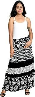 COTTON BREEZE Women's Rayon A-line Skirt