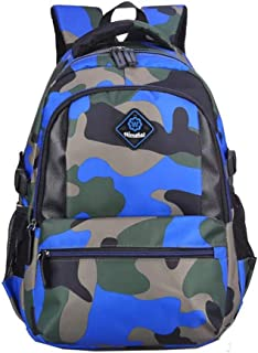 Kids Backpacks for Boys Girls Elementary School Bags Bookbags Casual Green Camouflage Schoolbag Rucksack Lightweight