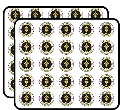 U.S. Army MOS 97L Translator/Interpreter 50 Pack Sticker for Scrapbooking, Calendars, Arts, Album, Bullet Journals and More 1'