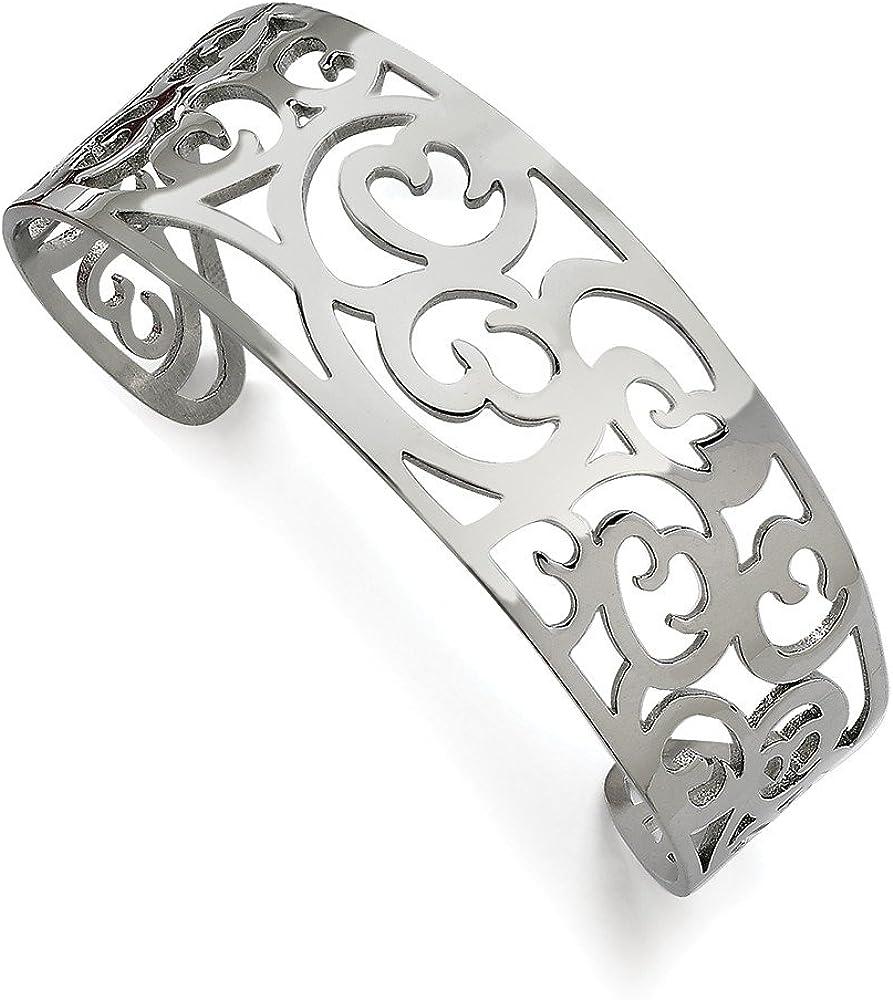 Stainless Steel Fancy Cuff Bracelet 7