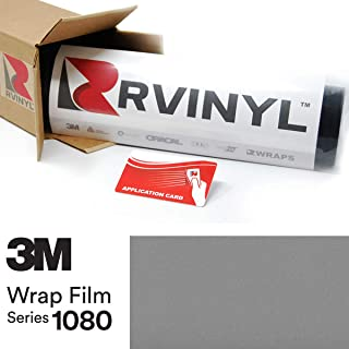 3M 1080 G251 Gloss Sterling Silver 5ft x 1ft W/Application Card Vinyl Vehicle Car Wrap Film Sheet Roll