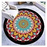 YWJFASHION Alfombra de área Redonda Alfombra Suave Lavable a máquina Alfombra Antideslizante para la decoración de la cabecera del Dormitorio (Color : A, Size : 60cm)