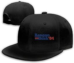 Alepoll Reagan Bush '84 Adjustable Flat Bill Baseball Caps Men's Black