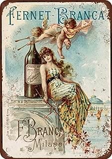 1889 Fernet-Branca Liqueur Vintage Look Reproduction Metal Tin Sign 12X18 Inches 2