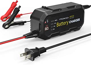 MoKo Automotive Battery Charger/Maintainer, 12V 1.5A Sealed Lead Acid Battery Smart Charging Trickle Charger with Alligator Clips and Battery Capacity Display, for Cars RVs Motorcycles Trucks Boats