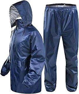 Mirakii Men and Women 2XL Rain Coat or Rain Wear, Rain Suit, with Hoods,Colours, Black,Brown, Blue, Green, (Random)