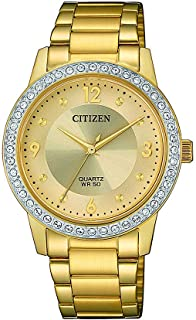Citizen Womens Quartz Watch, Analog Display and Stainless Steel Strap - EL3092-86P