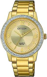 سيتيزن ساعة رسمية للنساء انالوج بعقارب ستانلس ستيل - EL3092-86P