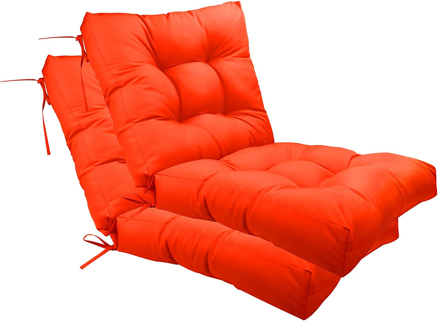 Colorado Springs Mall SewKer Outdoor Seat Back Popular brand in the world Chair Cushion Tufted x 20