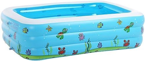 Baignoire Baignoire infantile enfants plus épais piscine gonflable de boule d'océan Pool famille (taille  110  90  46 cm   130  90  48 cm   150  110  50 cm, rectangulaire) Gonflable De Baignoire ( taille   15011050cm )