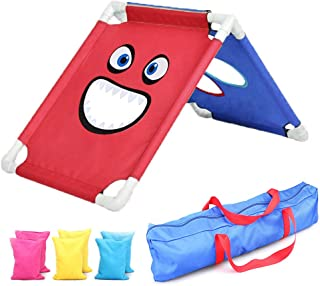 EOSAGA Cornhole Game Set Sport Sandbag Board Set Birthday Gift with 6 Bean Bags and Travel Carrying Case for Family Outdoor Lawn Yard Game