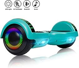 Felimoda Hoverboard 6.5 inch w/Bluetooth Speaker and LED Wheels Side Lights- UL2272 Certified