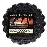 YANKEE CANDLE Black Coconut Tart da Fondere, Cera, Noir, 2x5.7x5.5 cm