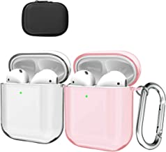 White Yellow Flower+Fur Ball V-MORO AirPods Case Compatible with Apple AirPods 2 /& 1 2019 Soft Silicone Floral Print Protective Cover for Apple AirPods 2 /& 1 Charging Case