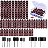 <span class='highlight'><span class='highlight'>AUSTOR</span></span> 252 Pieces Sanding Drum Kit with Free Box Including 240 Pieces Drum Sander Nail Sanding Band Sleeves and 12 Pieces Drum Mandrels for Dremel Rotary Tool.