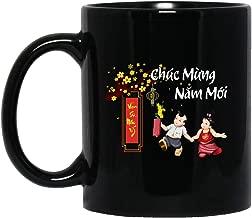 MKTEE Vietnamese New Year 2019 Mug Chuc Mung Nam Moi 2019 Mug 11oz 15oz Funny Coffee Cup for Men Women Friends