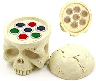 Tattoo Ink Cup Holder, CINRA 7 Holes Hard Resin Skull Tattoo Ink Pigment Cap Cup Holder Stand for Permanent Makeup Tattoo ...