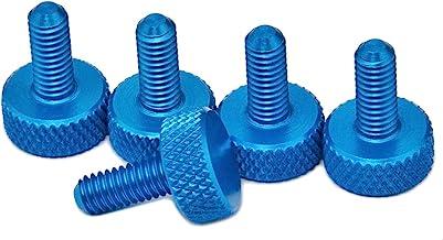 PrecisionGeek Aluminium Kartelschroeven M6 x 10 mm Blauw 1 set (5 stuks)