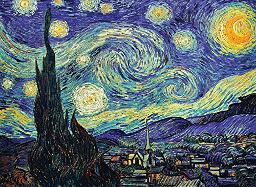 PalaceLearning The Starry Night 1889 by Vincent Van Gogh - Fine Art Poster -