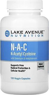 Lake Avenue Nutrition NAC, N-Acetyl Cysteine with Selenium & Molybdenum, 600 mg, 120 Veggie Capsules