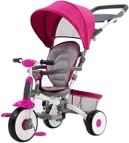 hasta 42% de descuento NBgy Triciclo, Pedales Pedales Pedales Plegables Triciclo Infantil 3 En 1 Multifunción con Parasol, Triciclo Exterior Bebé, 2 Colors, 101X103x52cm (Color   púrpura)  tienda en linea