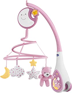 Chicco First Dreams Next2Dreams Baby Cot Mobile 0m+, Pink