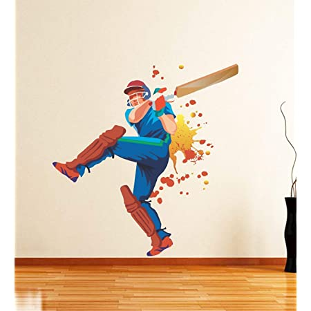 90 cm x 60 Decals Design /'Color Splash Football Player/' Wall Sticker PVC Vinyl