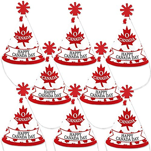 New Big Dot of Happiness Canada Day - Mini Cone Canadian Party Hats - Small Little Party Hats - Set ...