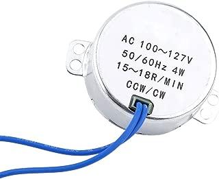 Synchronous Synchron Motor 50/60Hz AC 100-127V CCW/CW 4W Geared Motor 0.8-1RPM / 2.5-3RPM / 10-12RPM / 15-18RPM (15-18RPM)