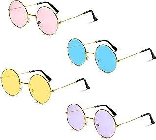 Czemo Occhiali da Sole Rotondi John Lennon ha Ispirato Occhiali da Sole Tondo Hippie Sfumature retrò Colorate Lenti per Uo...