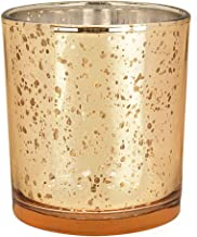 Just Artifacts Mercury Glass Votive Candle Holders 3H Speckled Gold (Set of 12) - Mercury Glass Votive Candle Holders for ...