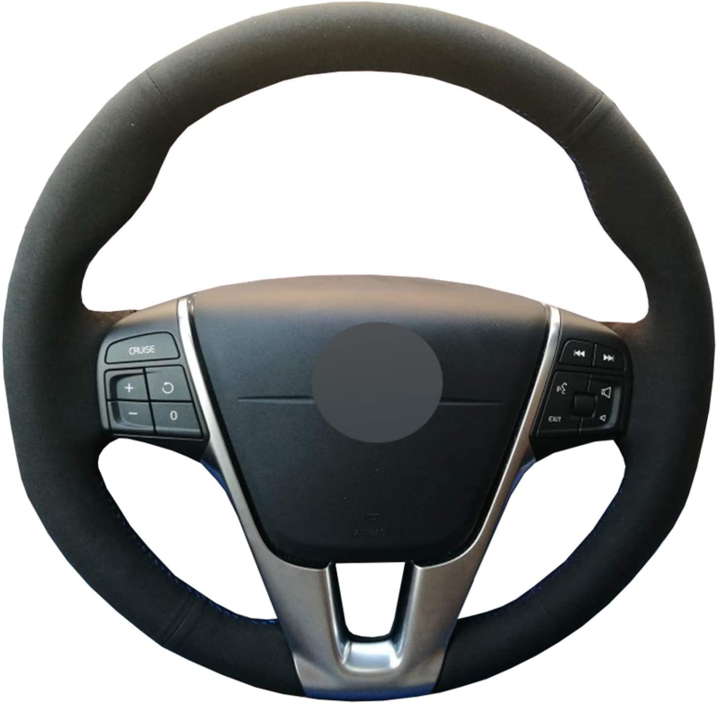 YSGADH Some reservation Very popular! DIY Car Steering Wheel Cover 2012-201 S80 S80L Volvo for