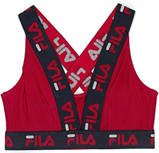 Fila Women's Logo Cotton Cross-Back Sports Bra