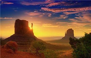 DIY Oil Painting, Paint by Number Kits - Sunset Desert Landscape 16x20 Inch,Framed