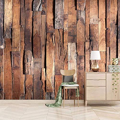 ZEISIX papel pintado habitacion foto en pared empapelar armario/Vintage puertas de madera campo/Aplicar para salones niños niñas juvenil habitacion bebe guardería dormitorio matrimonio cabecer