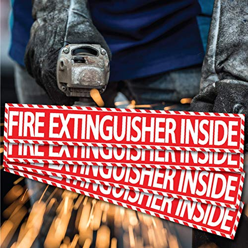 Fire Extinguisher Inside Sticker (4 Pack) 1.5