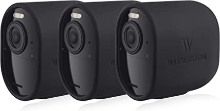 Protective Silicone Skins Compatible with Arlo Ultra & Arlo Pro 3 - Accessorize and Protect Your Arlo Camera (Black, 3 Pack)