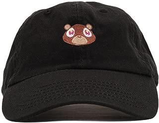 Mens Bear Print Adjustable Cotton Strapback Dad Hat Baseball Cap