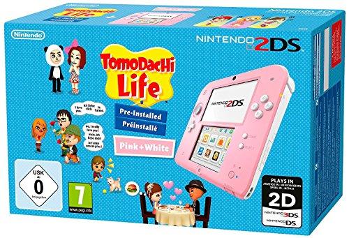 Nintendo 2Ds: Console Rosa/Bianco + Tomodachi Life [Bundle] [Importación Italiana]