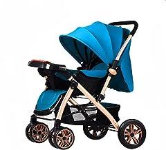 Carritos y sillas de Paseo El Cochecito de bebé se Puede sentar Reclinable Canasta de Almacenamiento Grande Plegable de Cuatro Ruedas Cochecito de bebé Bandeja para niños Bebé Sillas de p