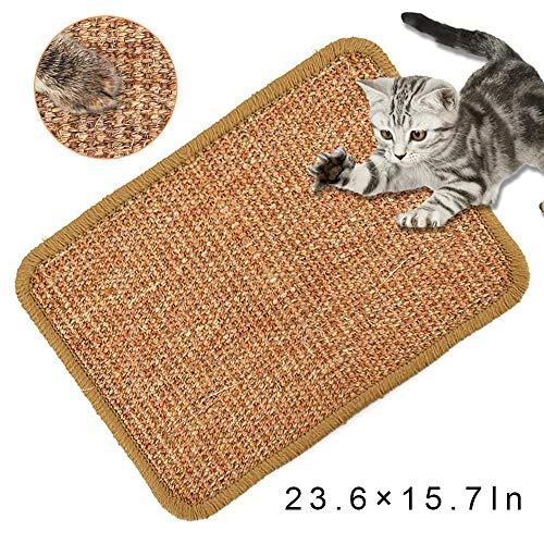 Cat Scratching Mat Natural Sisal Cat Scratching Pad Anti Slip Cat Scratch Mat for Cats Grinding Claws Protecting Furniture236×157 in