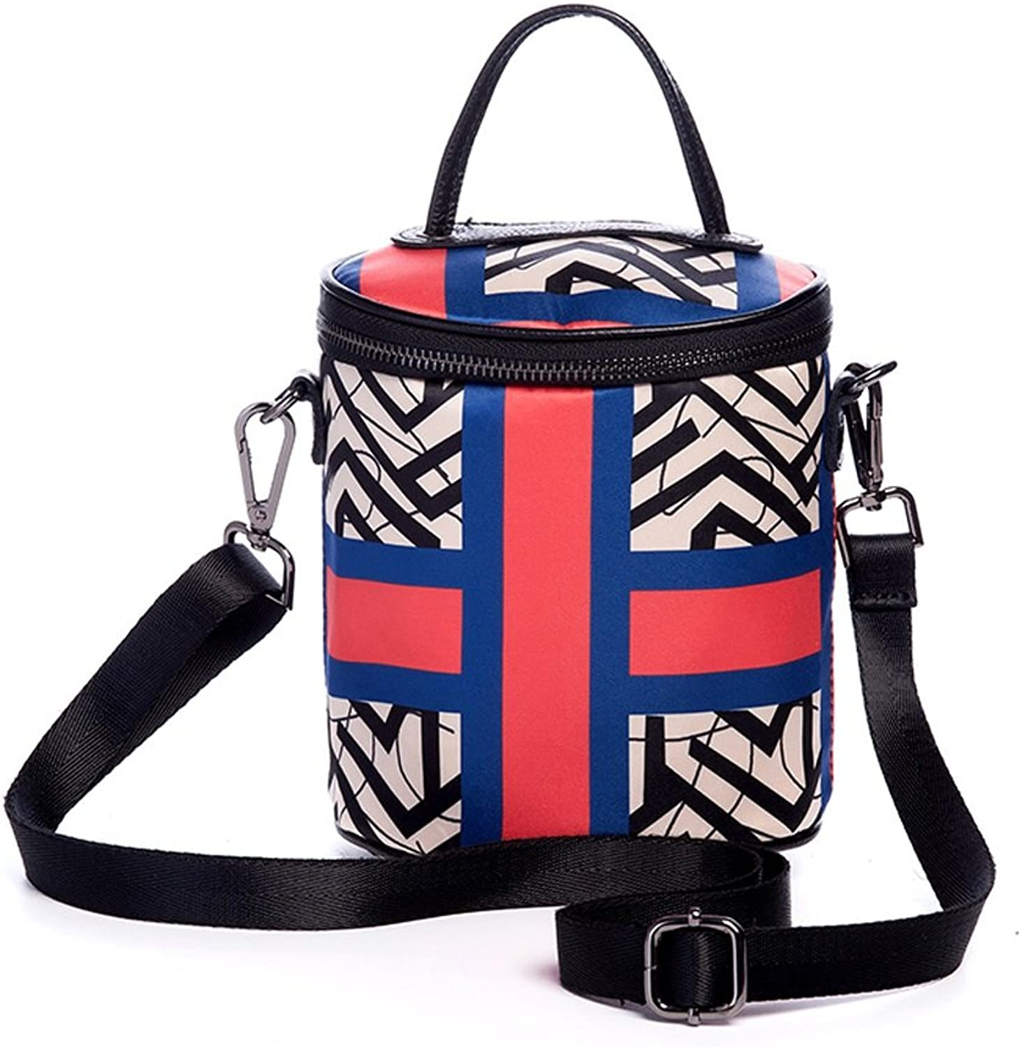 CJH Summer Small Bucket Mobile Phone Bag Ladies National Style greenical Section Oxford Cloth Barrel Art Bag