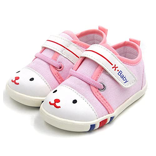 new style 243a2 ed893 HLM Baby Shoes Sneakers Infant for Girls Boys Walking Tennis Canvas Pink  Toddler