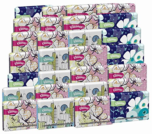 Kleenex Everyday Tissues Wallet, 10-Count (Pack of 30) Assorted Designs