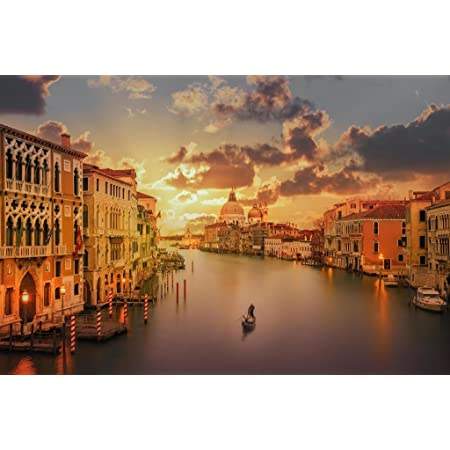 Amazon Com Gondola In The Grand Canal At Sunset Venice Italy Photo Photograph Cool Wall Decor Art Print Poster 36x24 Posters Prints
