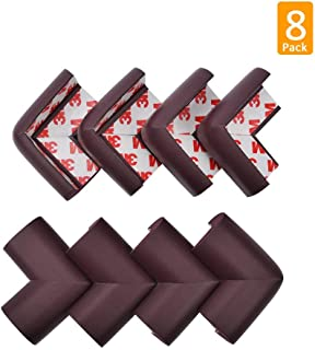 8 Pack Corner Guards, Baby Safety Corner Protectors, Besego Proofing Edge Protector Safe Corner Cushion for Table, Stair, Cabinet, Countertop(Brown)