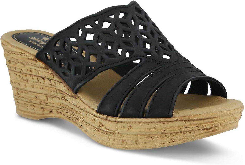 Spring Step Women's Vino Sandals   color Black   Leather Sandals