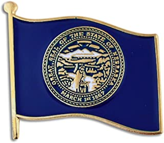 PinMart Nebraska US State Flag NE Enamel Lapel Pin 1